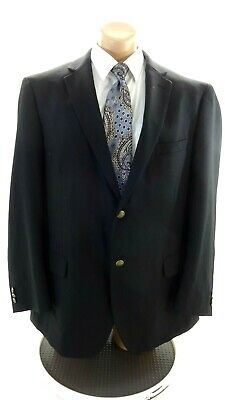 Dockers Mens Black Polyester And Wool Suit Coat Size 48R