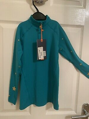 Shires Aubrion Childs Meadowland Cross Country Shirt Teal With Gold Star