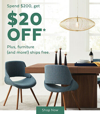 allmodern.com $20 off $200 Exp 6/27/20 Valid first order only free ship
