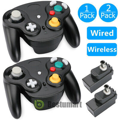 Wireless/Wired Gamecube Controller With Adapter for Retro Classic Wii GC NGC