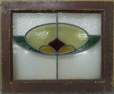"OLD ENGLISH LEADED STAINED GLASS WINDOW Pretty Abstract Design 20.5"" x 16.75"""
