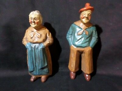 "2 Figures - Man & Woman - Numbered With Tags On Feet -Approx. 5"" Tall"