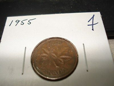 1955 - Canada - one cent - Canadian penny