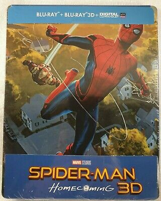 Spider-Man: Homecoming 3D Blu-ray SteelBook / Limited Edition / Blu-ray 3D Neuf