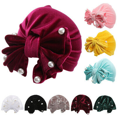 New Boy Girl Pearl Cute Indian Hat Knot Cap Head Bands Kids Turban