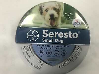 Bayer Seresto Flea & Tick Collar for Small Dog 8 Months Protection Free Shipping