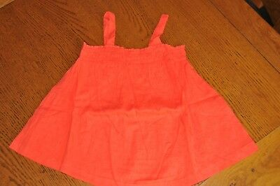 Girls Mini Boden Coral Pink Summer Woven Top Size 5-6 Years Bnip