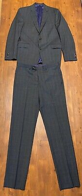 Ted Baker London Endurance 100% Wool Blazer Suit Jacket Pants Size 42L 36 W X 35