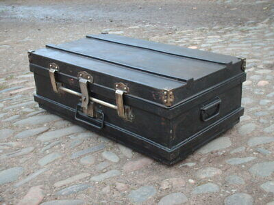 Antique Rustic Indian Travel  Chest / Trunk