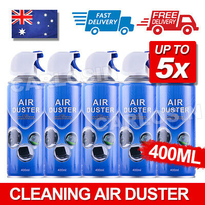 New 1/2/4/5x 400ml Multi-purpose Compressed Air Duster Cleaner AU POST
