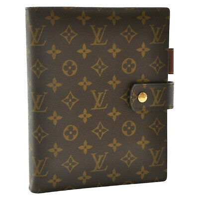 LOUIS VUITTON Monogram Agenda GM Day Planner Cover R20006 LV Auth sa2147