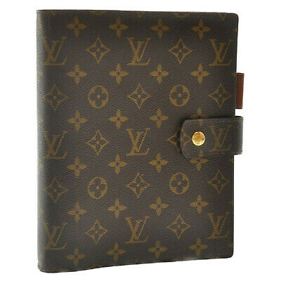 LOUIS VUITTON Monogram Agenda GM Day Planner Cover R20006 LV Auth sa2122