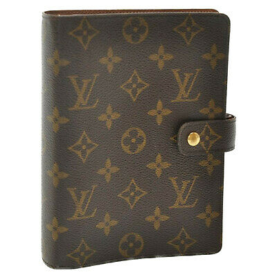 LOUIS VUITTON Monogram Agenda MM Day Planner Cover R20105 LV Auth sa1675