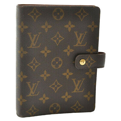 LOUIS VUITTON Monogram Agenda MM Day Planner Cover R20105 LV Auth sa1617