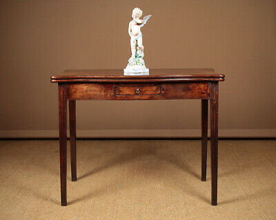Antique Late 18th.c. Mahogany Fold Over Supper Table c.1780.