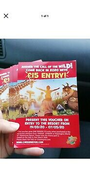 Chessington discount entry tickets 1 per entry required! Save £££ family day out