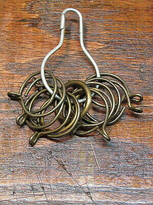 10 Vintage Metal Cafe Curtain Rod Clips Rings Hardware
