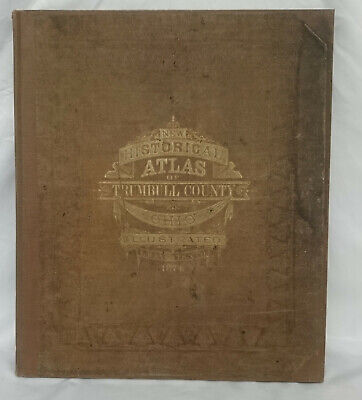 Combination Atlas Map of Trumbull County Ohio First Edition 1874 L. H. EVERTS VG