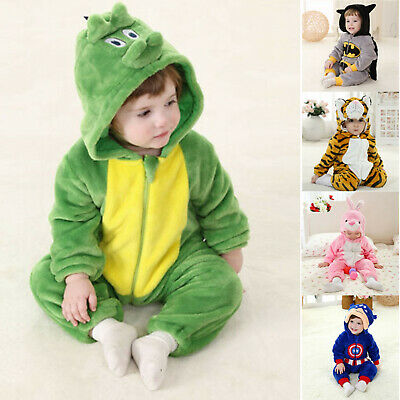 Kids Baby Rabbit Hooded Jumpsuit Romper Animal Cartoon Tracksuit Clothes Outfits