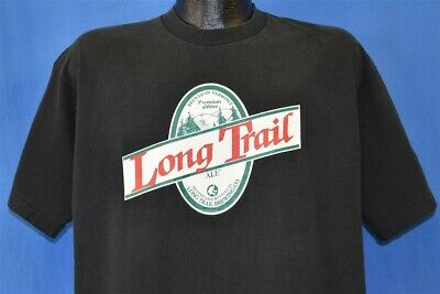 vtg 90s LONG TRAIL BREWING BEER VERMONT TAKE A HIKE MAP ALE ALTBIER t-shirt XL
