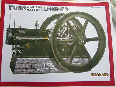 Foos 1903 Gas and Gasoline Engine Catalog #10 Springfield Ohio Super Rare!!