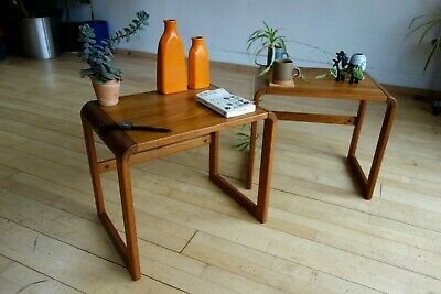 X2 O'Donnell Mid Century Modern solid teak bed side tables mobler coffee Danish