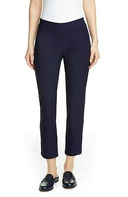 Eileen Fisher Washable Stretch Crepe Slim Ankle Pants - Midnight Size Large