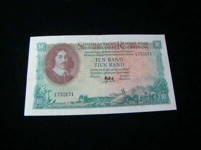 South Africa 1961-65 10 Rand Banknote XF Pick #106a