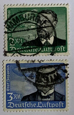 Travelstamps: 1934 Germany Airmail Stamps Scott #C55-C56 Used NG