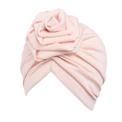 Girls Cap Children's Cotton Plain Colored Beanie Scarf Kids Fashion Turban Hats