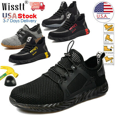 Mens Women Work Safety Shoes Steel Toe Boots Indestructible Lightweight Sneakers