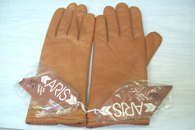 Womens ARIS Brown Gloves - size 7 - New with Tags