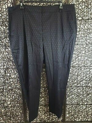 Nwt Lane Bryant Womens Ankle Pants The Lena Size 26 Black Two Side Pockets