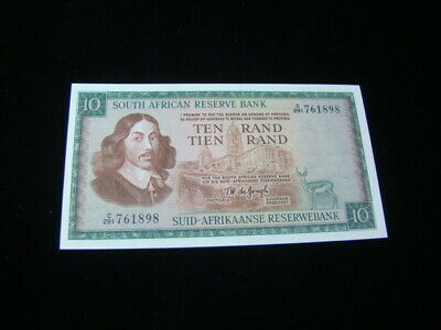 South Africa 1966-76 10 Rand Banknote Gem Uncirculated Pick #113c