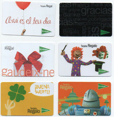 """Lot Of 12 Gift Card """"El Corte Ingles"""" Stores, From Spain Zero Balance"""