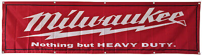 Milwaukee Tools Flag Banner 2X8Ft US Shipper