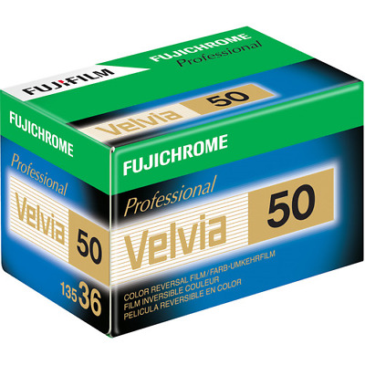 1 x Roll FUJI VELVIA 50 Color Slide Film--35mm/36 exps--FRESH--expiry: 12/2020