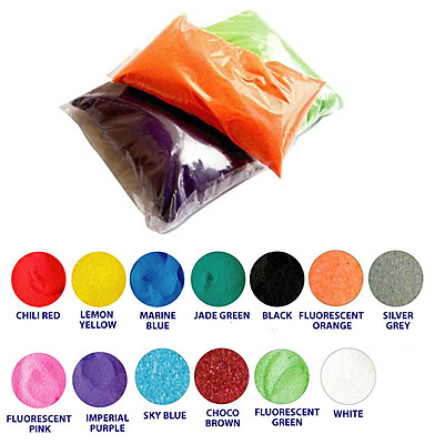 8 x 1kg Coloured Sand for sand art, craft, wedding ceremony, glass deco, etc.