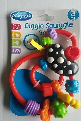 New Play gro giggle squiggle rattle 3 month + Spinning beads Shake Me I Rattle