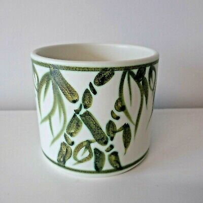 Vintage Mid Century 1960s Poole Pottery Bamboo planter jardiniere 12cm high