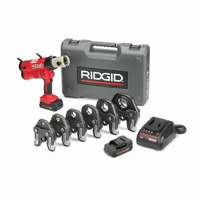 "Ridgid 43358 Rp 340 Battery Press Tool Kit With Propress Jaws (1/2""-2"")"