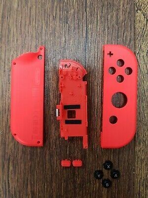 Nintendo Switch Genuine Joycon Shell & Button Replacement Set - Neon Red (R)