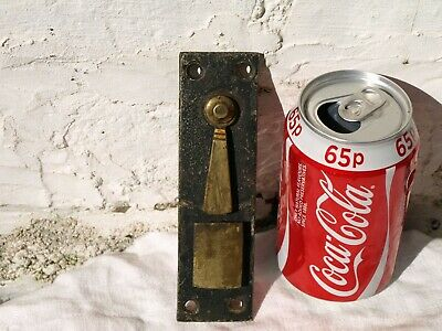 Uncommon Antique Reclaimed Victorian Georgian Brass & Metal Door Lock Latch Keep