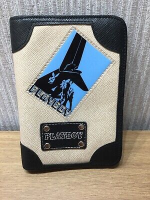 Playboy Passport Holder Brand New Collectable Black Beige Blue Unusual Travel