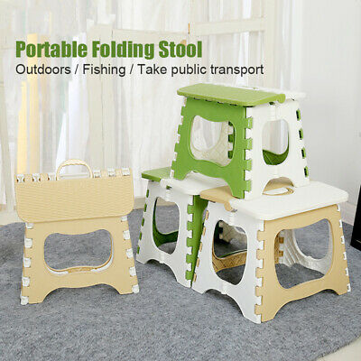 Portable Multi-Purpose Fold Step Stool Plastic Home Kitchen Foldable Easy Storag