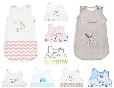 Nursery Baby Sleeping Bags 100% Cotton Snooze Bag Boys Girls 0-24M 1.0 2.5 Tog