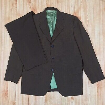 Emanual Ungaro Classic Fit Solid Black Three Button Natural Stretch Wool Suit