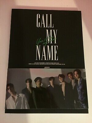 got7 call my name- c version with 1 jaebeom and 1 jinyoung photo card