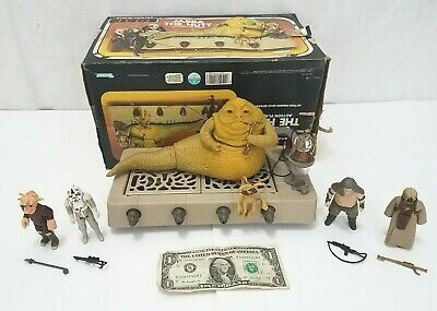 Star Wars Return of Jedi Jabba the Hutt Action Playset LOT - Vintage Kenner 1983