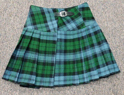Campbell Ancient Homespun Kilted Mini Skirt 28W 15L